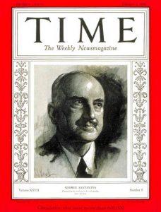 George Santayana Time 1936